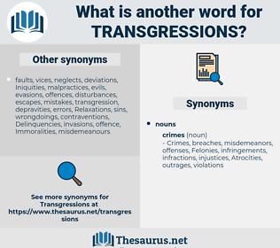 transgressions, synonym transgressions, another word for transgressions, words like transgressions, thesaurus transgressions