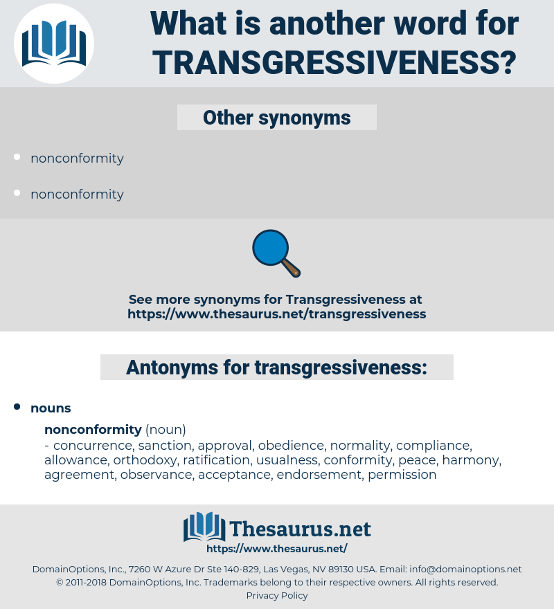 transgressiveness, synonym transgressiveness, another word for transgressiveness, words like transgressiveness, thesaurus transgressiveness