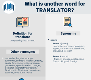 translator, synonym translator, another word for translator, words like translator, thesaurus translator
