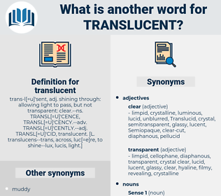 translucent, synonym translucent, another word for translucent, words like translucent, thesaurus translucent