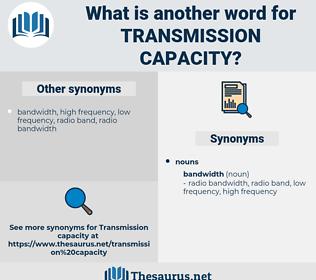transmission capacity, synonym transmission capacity, another word for transmission capacity, words like transmission capacity, thesaurus transmission capacity