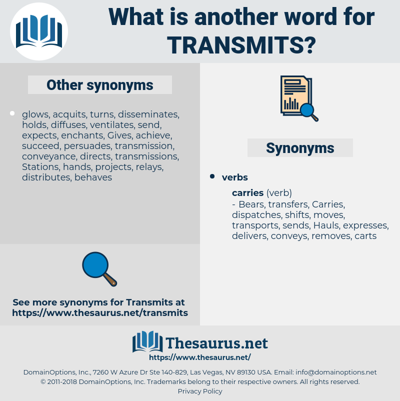 transmits, synonym transmits, another word for transmits, words like transmits, thesaurus transmits