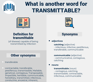 transmittable, synonym transmittable, another word for transmittable, words like transmittable, thesaurus transmittable