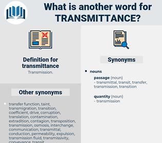 transmittance, synonym transmittance, another word for transmittance, words like transmittance, thesaurus transmittance