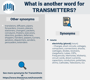 transmitters, synonym transmitters, another word for transmitters, words like transmitters, thesaurus transmitters