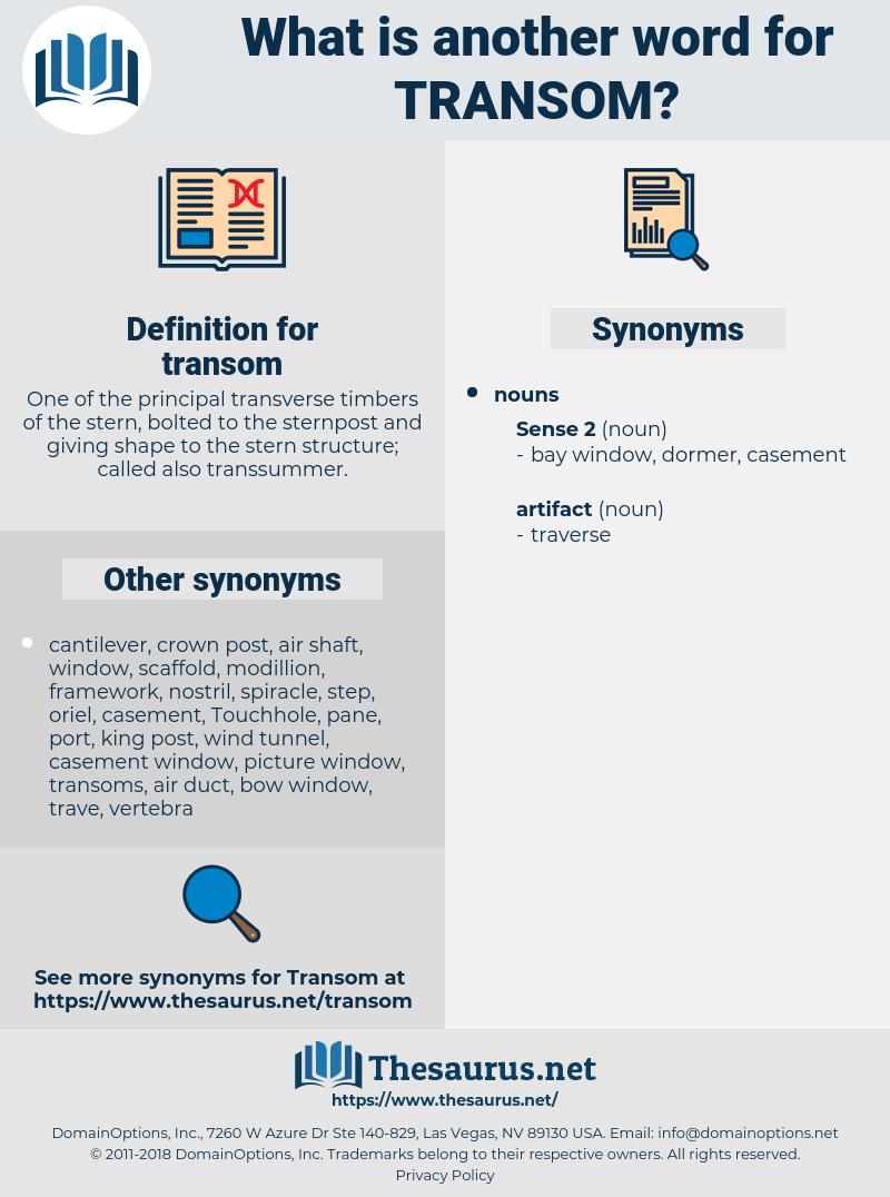 transom, synonym transom, another word for transom, words like transom, thesaurus transom