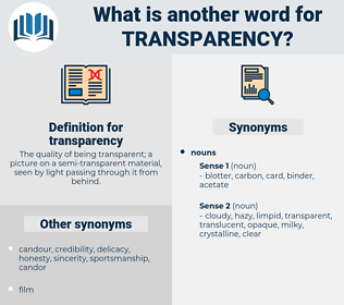 transparency, synonym transparency, another word for transparency, words like transparency, thesaurus transparency