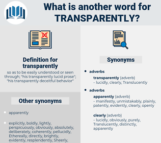 transparently, synonym transparently, another word for transparently, words like transparently, thesaurus transparently