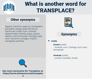 Transplace, synonym Transplace, another word for Transplace, words like Transplace, thesaurus Transplace