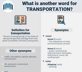 transportation, synonym transportation, another word for transportation, words like transportation, thesaurus transportation