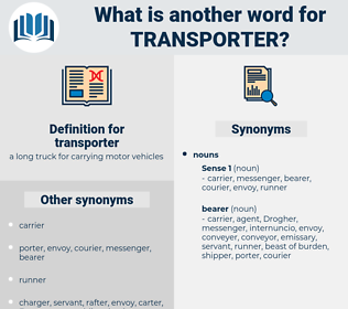 transporter, synonym transporter, another word for transporter, words like transporter, thesaurus transporter
