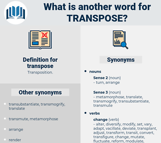 transpose, synonym transpose, another word for transpose, words like transpose, thesaurus transpose