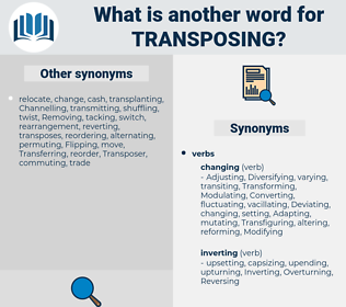 Transposing, synonym Transposing, another word for Transposing, words like Transposing, thesaurus Transposing