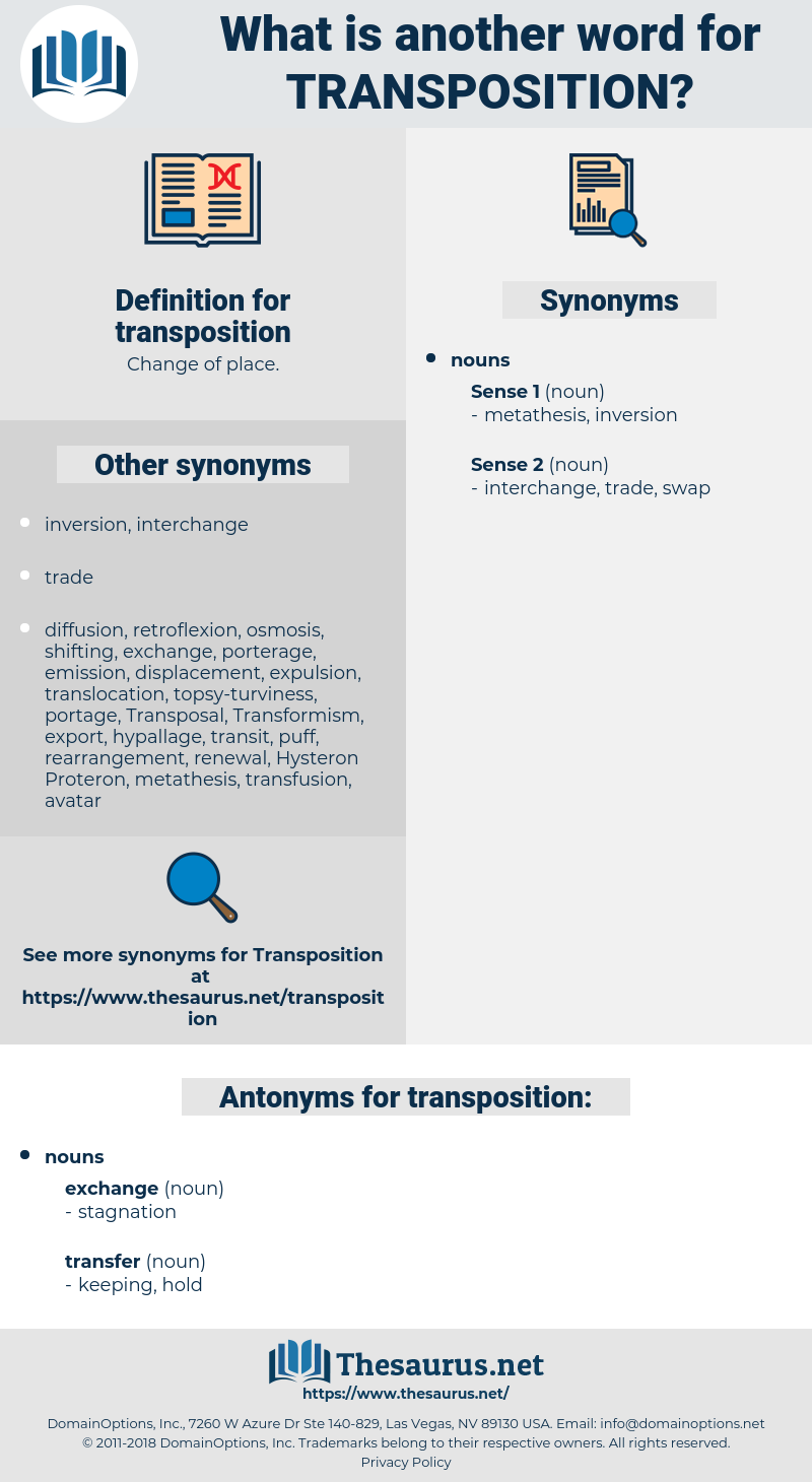 transposition, synonym transposition, another word for transposition, words like transposition, thesaurus transposition