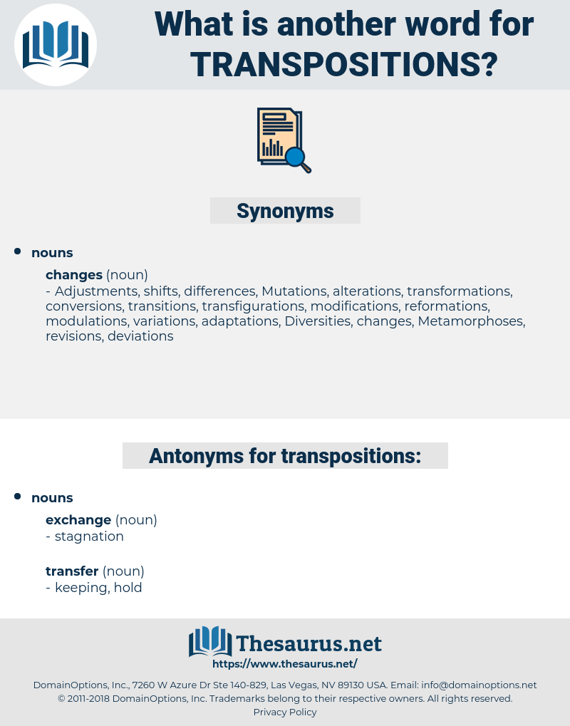 transpositions, synonym transpositions, another word for transpositions, words like transpositions, thesaurus transpositions