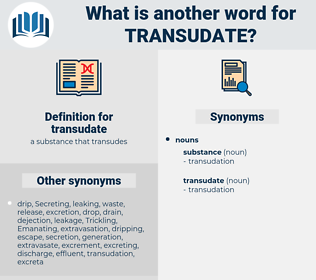 transudate, synonym transudate, another word for transudate, words like transudate, thesaurus transudate
