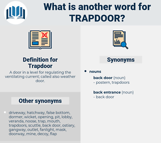 Trapdoor, synonym Trapdoor, another word for Trapdoor, words like Trapdoor, thesaurus Trapdoor