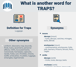 Traps, synonym Traps, another word for Traps, words like Traps, thesaurus Traps