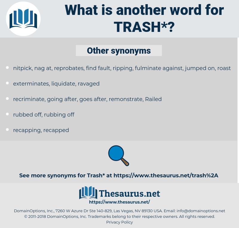 trash, synonym trash, another word for trash, words like trash, thesaurus trash