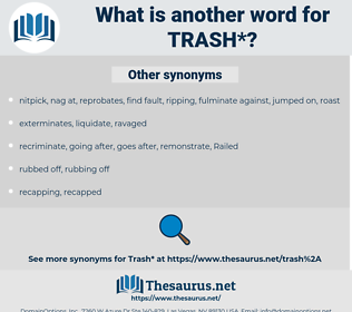 trash, synonym trash, another word for trash, words like trash, thesaurus trash