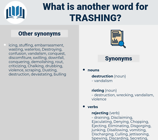 Trashing, synonym Trashing, another word for Trashing, words like Trashing, thesaurus Trashing
