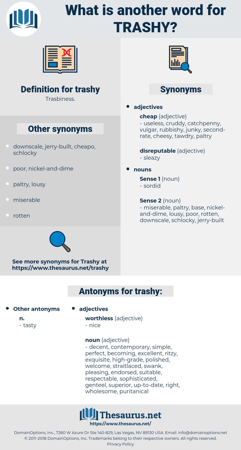 trashy, synonym trashy, another word for trashy, words like trashy, thesaurus trashy