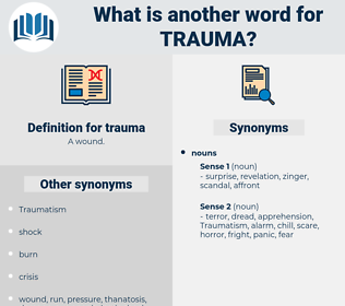 trauma, synonym trauma, another word for trauma, words like trauma, thesaurus trauma