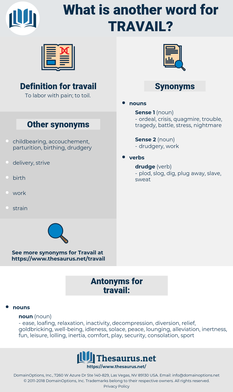 travail, synonym travail, another word for travail, words like travail, thesaurus travail