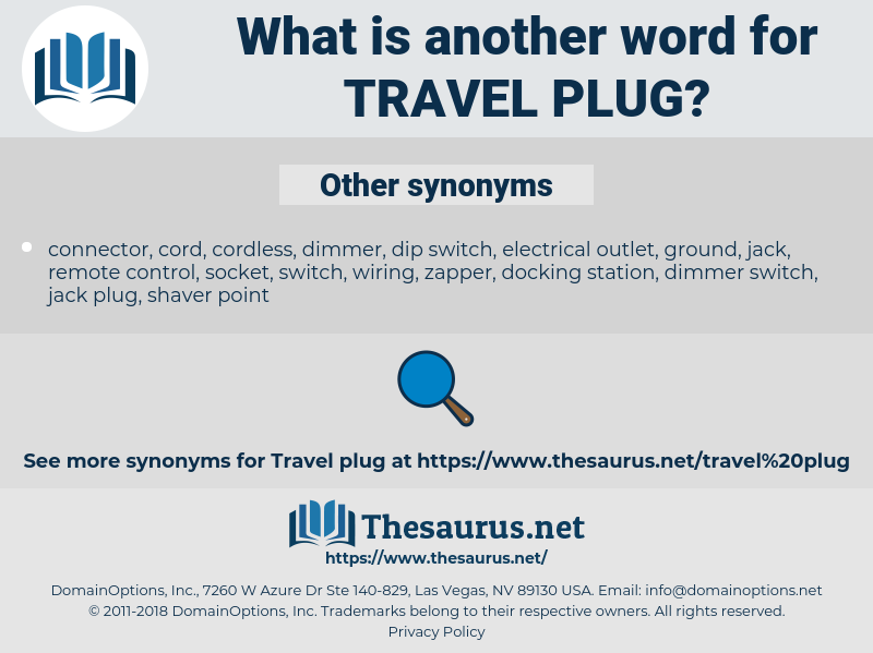 travel plug, synonym travel plug, another word for travel plug, words like travel plug, thesaurus travel plug