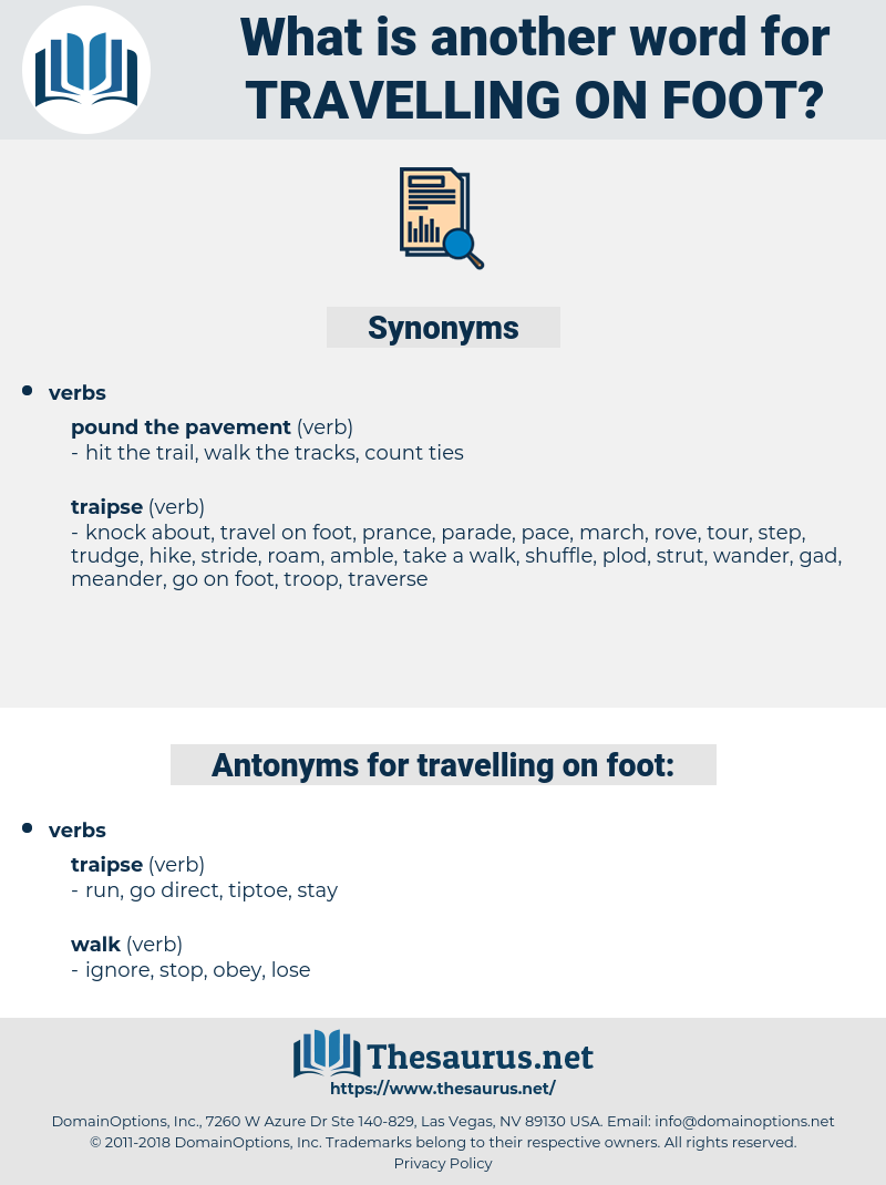 travelling on foot, synonym travelling on foot, another word for travelling on foot, words like travelling on foot, thesaurus travelling on foot