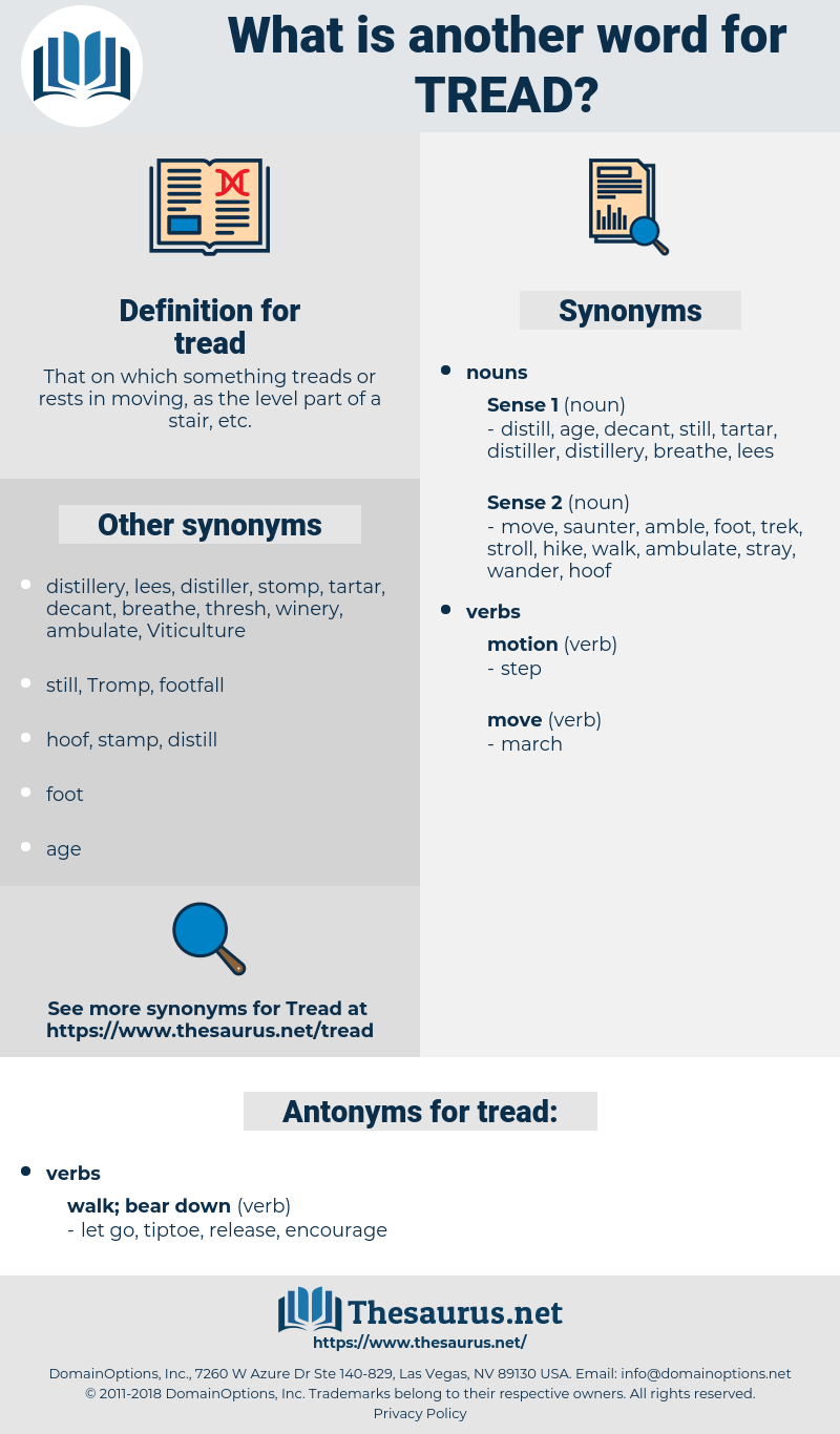 tread, synonym tread, another word for tread, words like tread, thesaurus tread