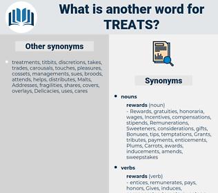 treats, synonym treats, another word for treats, words like treats, thesaurus treats