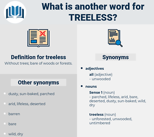 treeless, synonym treeless, another word for treeless, words like treeless, thesaurus treeless