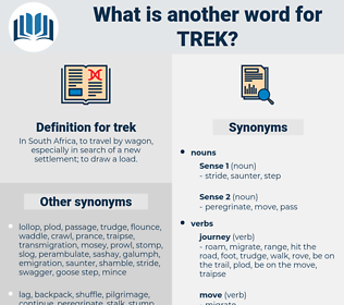 trek, synonym trek, another word for trek, words like trek, thesaurus trek