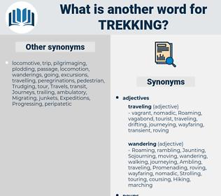 Trekking, synonym Trekking, another word for Trekking, words like Trekking, thesaurus Trekking
