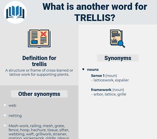 trellis, synonym trellis, another word for trellis, words like trellis, thesaurus trellis