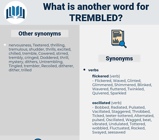 Trembled, synonym Trembled, another word for Trembled, words like Trembled, thesaurus Trembled