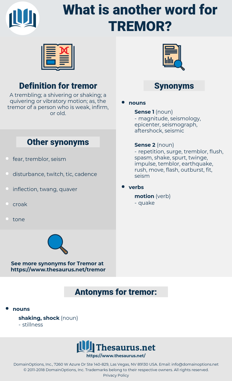 tremor, synonym tremor, another word for tremor, words like tremor, thesaurus tremor