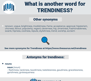 trendiness, synonym trendiness, another word for trendiness, words like trendiness, thesaurus trendiness
