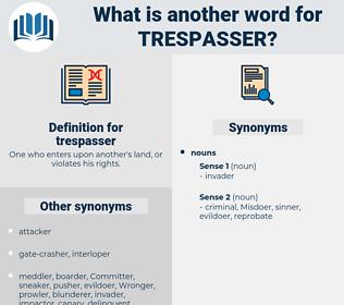 trespasser, synonym trespasser, another word for trespasser, words like trespasser, thesaurus trespasser
