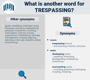 trespassing, synonym trespassing, another word for trespassing, words like trespassing, thesaurus trespassing