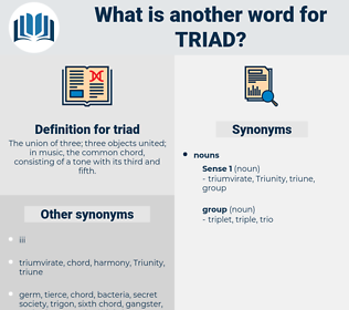 triad, synonym triad, another word for triad, words like triad, thesaurus triad
