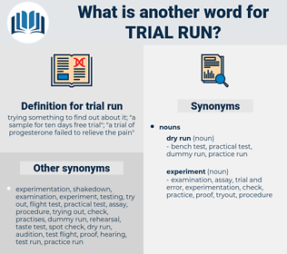 trial run, synonym trial run, another word for trial run, words like trial run, thesaurus trial run