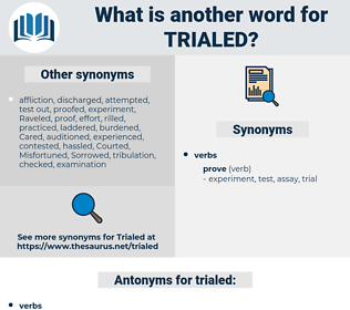 trialed, synonym trialed, another word for trialed, words like trialed, thesaurus trialed