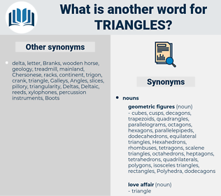 triangles, synonym triangles, another word for triangles, words like triangles, thesaurus triangles