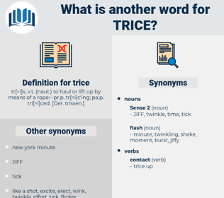 trice, synonym trice, another word for trice, words like trice, thesaurus trice
