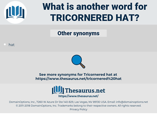 tricornered hat, synonym tricornered hat, another word for tricornered hat, words like tricornered hat, thesaurus tricornered hat