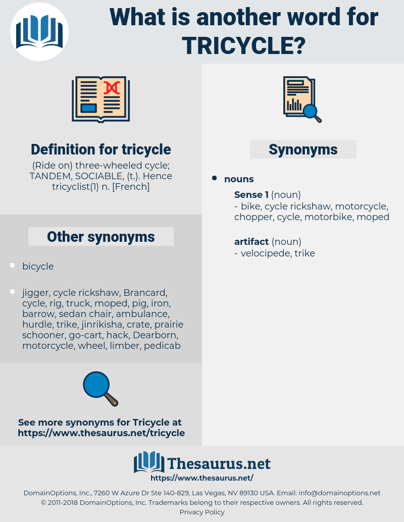 tricycle, synonym tricycle, another word for tricycle, words like tricycle, thesaurus tricycle