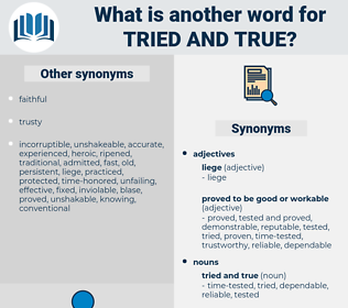 tried and true, synonym tried and true, another word for tried and true, words like tried and true, thesaurus tried and true