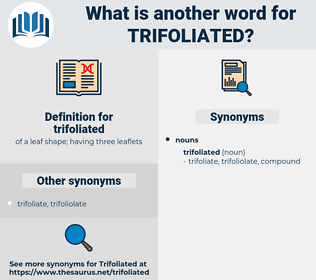 trifoliated, synonym trifoliated, another word for trifoliated, words like trifoliated, thesaurus trifoliated